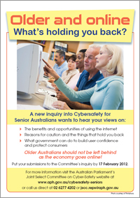Cybersafety for Seniors flyer