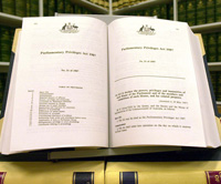 Photograph of Parliamentary Privilege Act 1987
