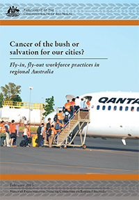 "Cover of report ""Cancer of the bush or salvation for our cities"" report"