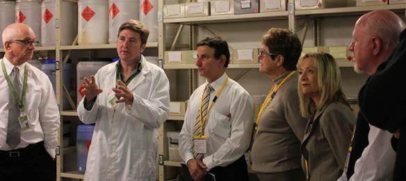 Fig 2.1 Members inspecting a marine specimen collection at Melbourne Museum