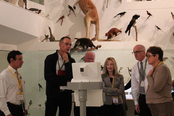 Figure 2.2 Members inspecting interactive devices in Melbourne Museum's Wild exhibition